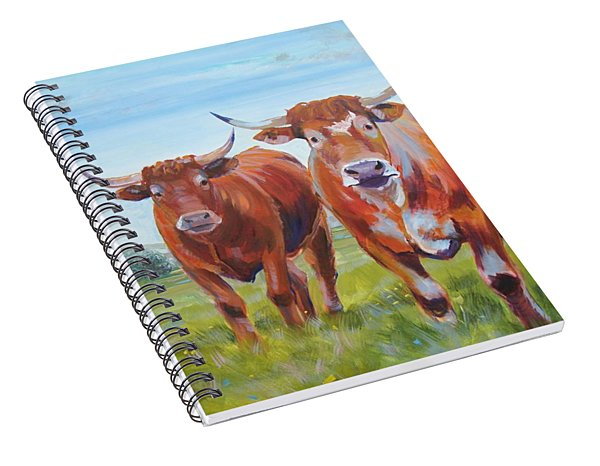 Devon Cattle Spiral Notebook