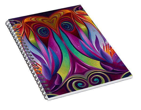 Double Floral Fantasy Spiral Notebook
