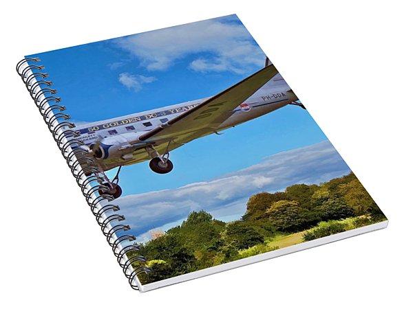 Spiral Notebook featuring the digital art Douglas Dc3 by Paul Gulliver