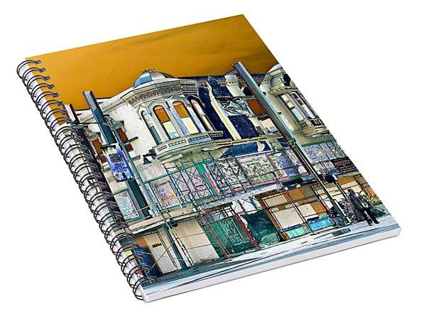 Downtown Los Angeles Corner Facade Spiral Notebook