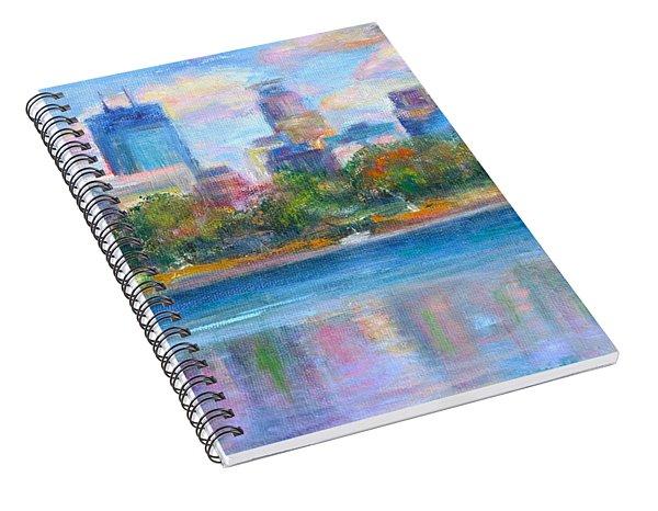 Downtown Minneapolis Skyline From Lake Calhoun Spiral Notebook