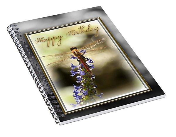 Dragonfly Birthday Card Spiral Notebook