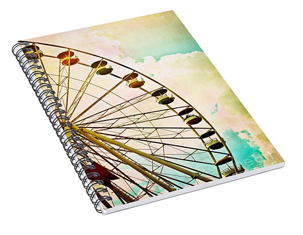Dreaming Of Summer - Ferris Wheel Spiral Notebook