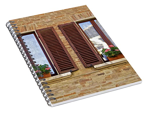 Dueling Windows Of Tuscany Spiral Notebook