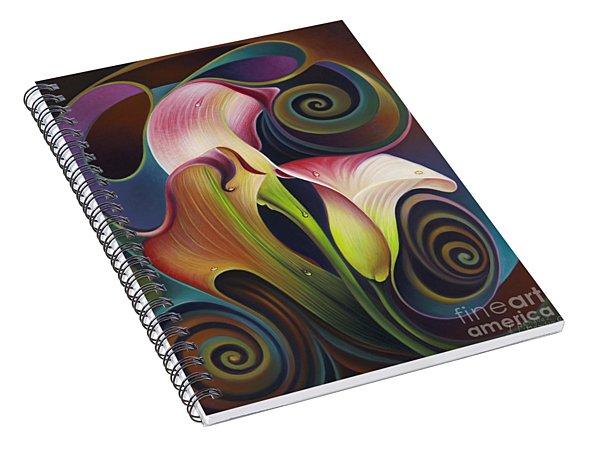 Dynamic Floral 4 Cala Lillies Spiral Notebook
