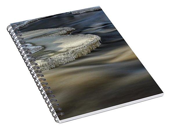 Eau Claire Dells Park River Ice Spiral Notebook