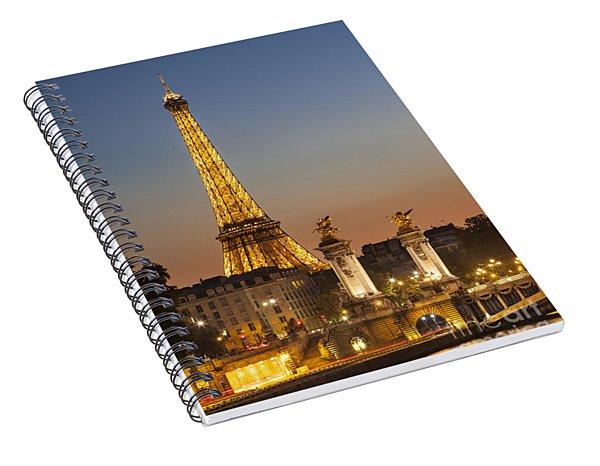 Eiffel At Twilight Spiral Notebook