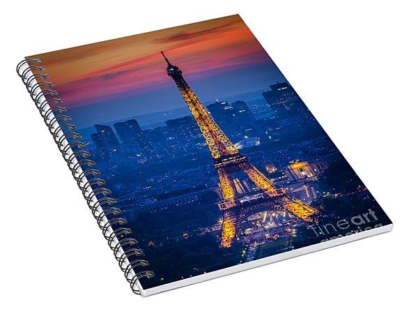 Eiffel Tower At Twilight Spiral Notebook