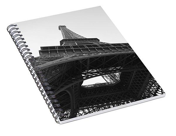 Eiffel Tower B/w Spiral Notebook