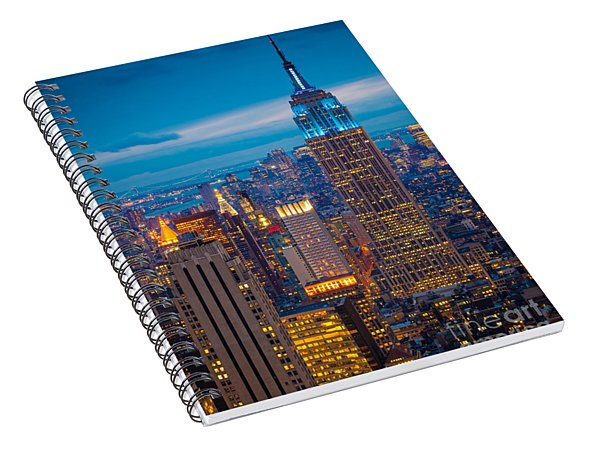 Empire State Blue Night Spiral Notebook