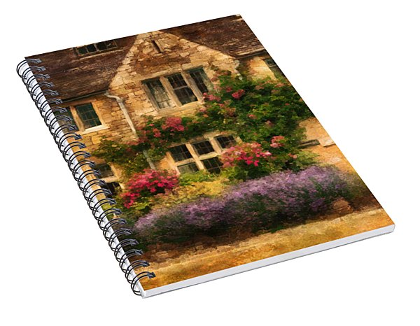 English Stone Cottage Spiral Notebook