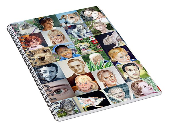 Facebook Of Faces Spiral Notebook