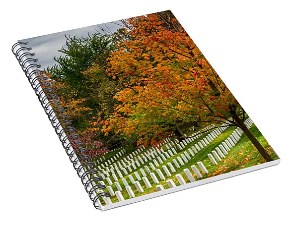 Fall Arlington National Cemetery  Spiral Notebook