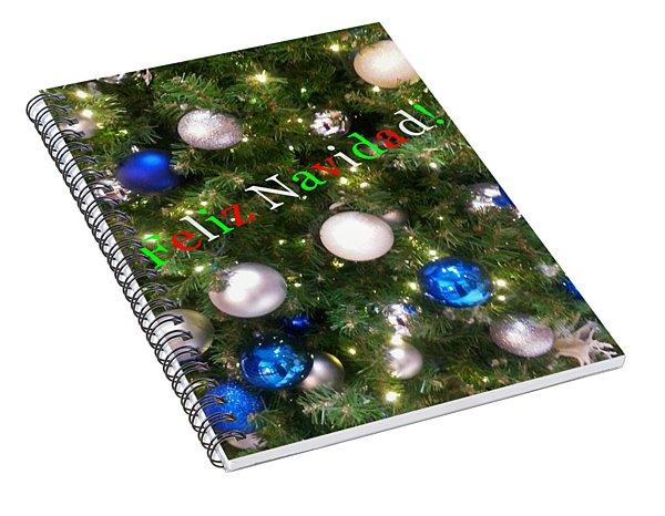 Feliz Navidad Spiral Notebook