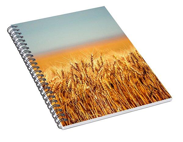 Field Of Wheat Spiral Notebook