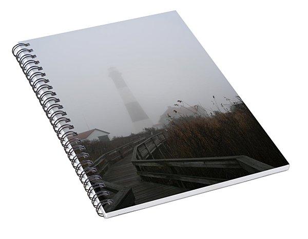 Fire Island Lighthouse In Fog Spiral Notebook