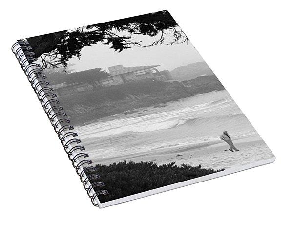 Foggy Day On Carmel Beach Spiral Notebook