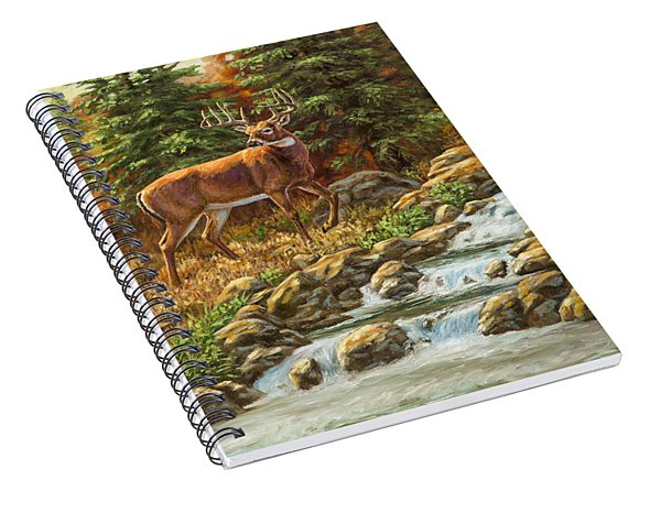 Whitetail Deer - Follow Me Spiral Notebook