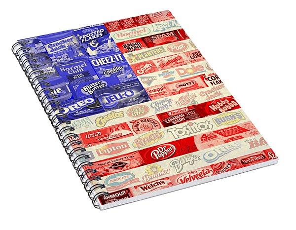 Food Advertising Flag Spiral Notebook