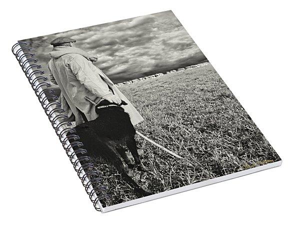 French Shepherd - B W Spiral Notebook