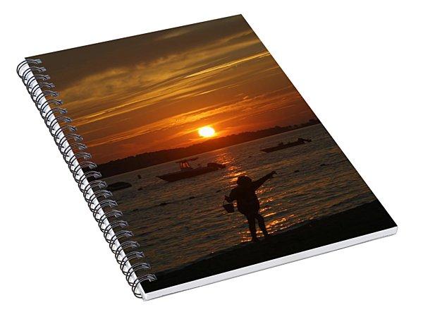 Fun At Sunset Spiral Notebook