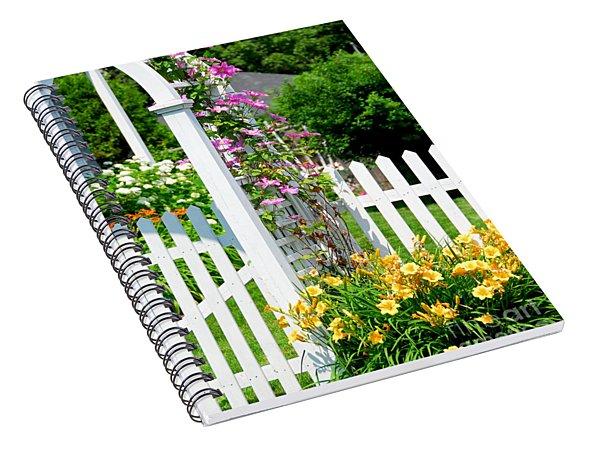 Garden With Picket Fence Spiral Notebook