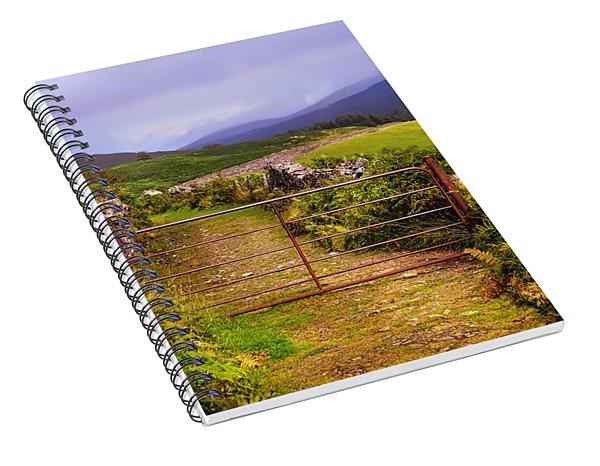 Gates On The Road. Wicklow Hills. Ireland Spiral Notebook