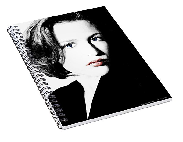 Gillian Anderson Spiral Notebook