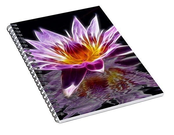 Glowing Lilly Flower Spiral Notebook