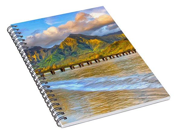 Golden Hanalei Morning Spiral Notebook