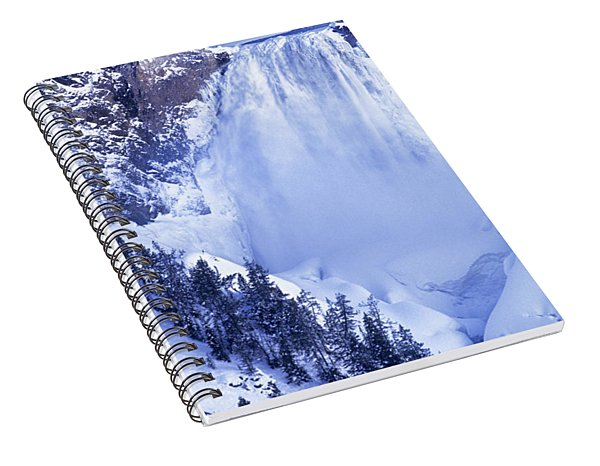 Spiral Notebook featuring the photograph Grand Canyon Of The Yellowstone Yellowstone National Park Wyoming by Dave Welling