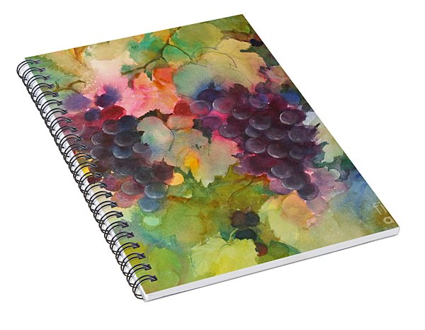 Grapes In Light Spiral Notebook
