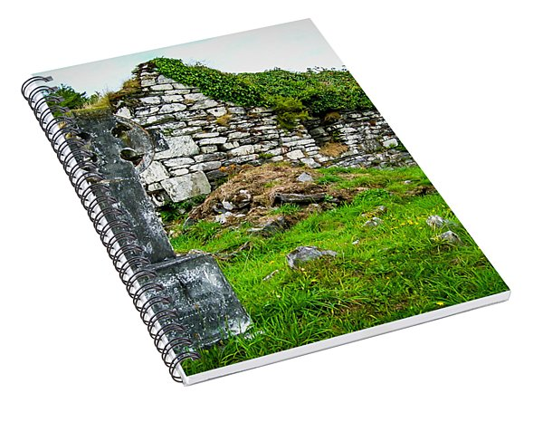 Graveyard And Church Ruins On Ireland's Mizen Peninsula Spiral Notebook