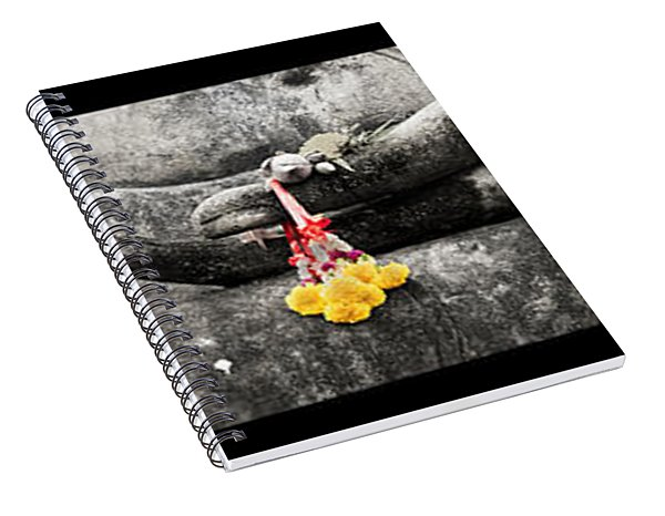 Hands Of Buddha Spiral Notebook
