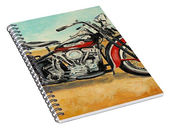 Harley Davidson Panhead Spiral Notebook
