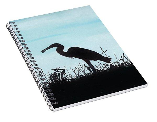 Heron Has Supper Spiral Notebook