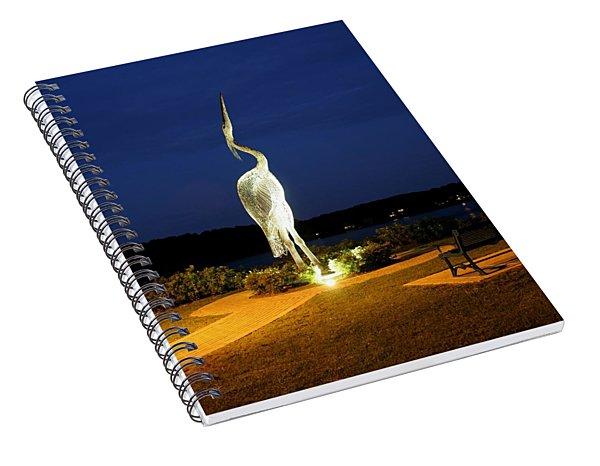 Heron On Mill Pond Spiral Notebook