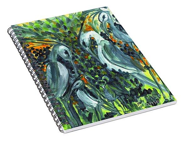 Herons Spiral Notebook