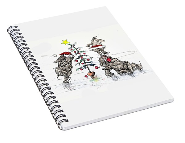 Holiday Ice Spiral Notebook
