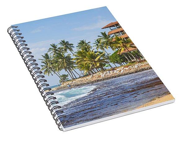 Hotel At The Hikkaduwa Beach  Spiral Notebook