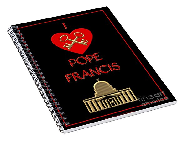 I Love Pope Francis Spiral Notebook
