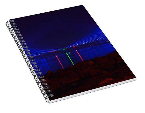 Indian River Inlet Bridge After Dark Spiral Notebook
