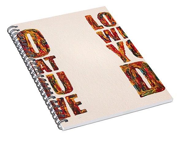 Inspiring Palette Knife Acrylic Spiral Notebook