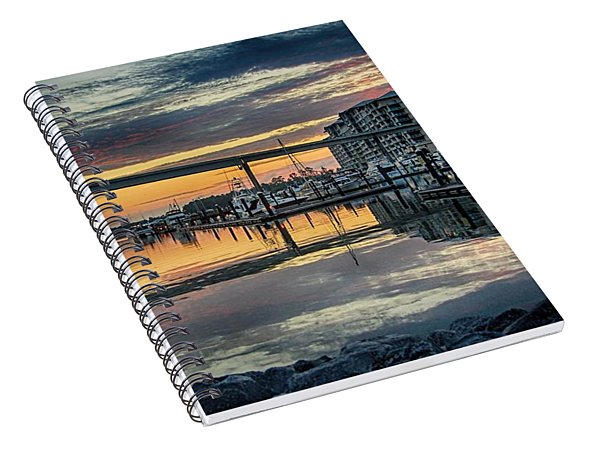 Intercoastal Waterway And The Wharf Spiral Notebook