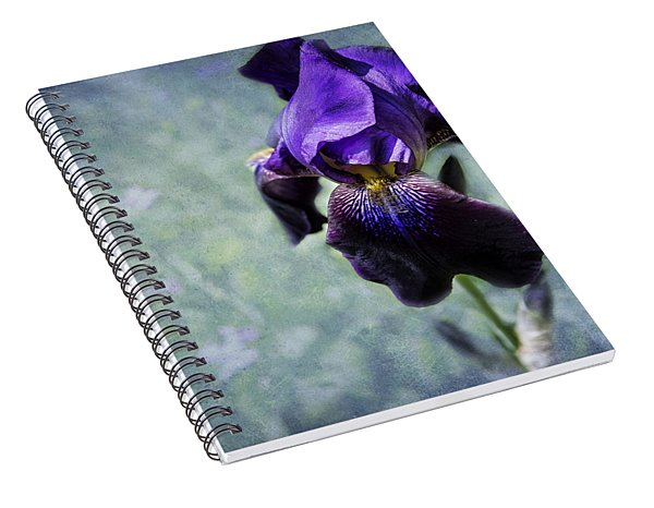 Spiral Notebook featuring the photograph Iris - Purple And Blue - Flowers by Belinda Greb