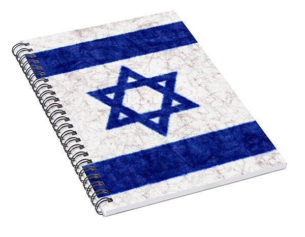 Israel Star Of David Flag Batik Spiral Notebook