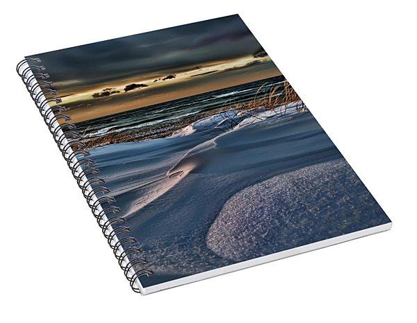January Saugatuck Blues Michigan Spiral Notebook