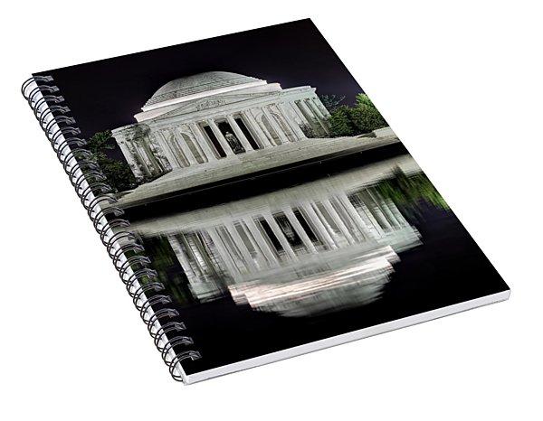 Jefferson Memorial - Night Reflection Spiral Notebook