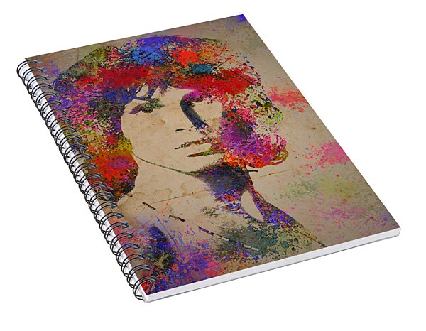Jim Morisson Watercolor Painting Spiral Notebook