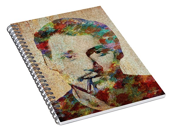 Johnny Depp Watercolor Splashes Spiral Notebook